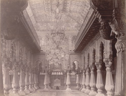 Interior of the Amba Vilasa of the Palace, Mysore